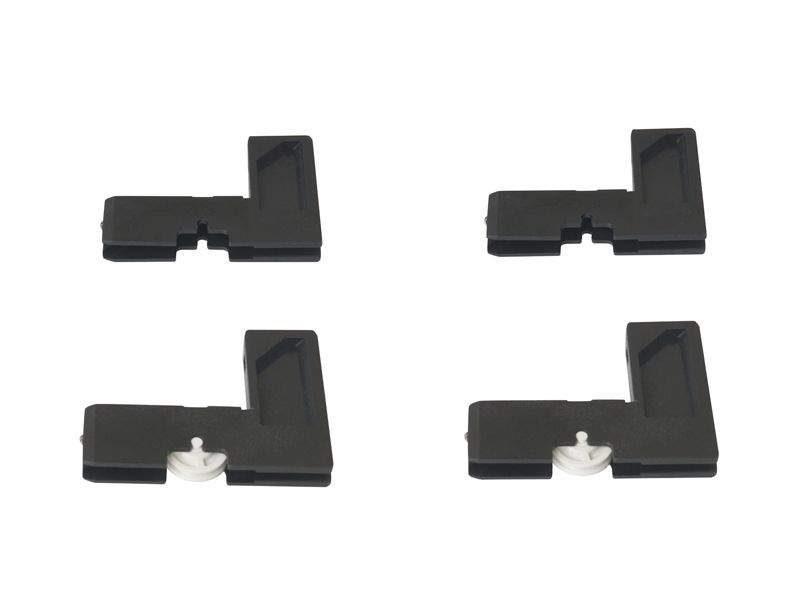 Комплект уголков для москитной сетки Проведал ELEMENTIS. Комплект: 2 верхних + 2 нижних с роликом