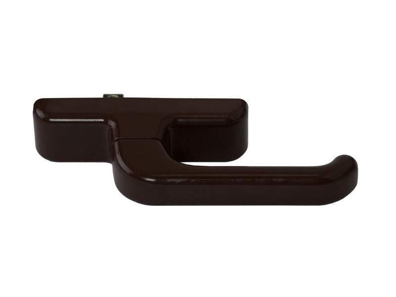 Ручка алюминиевого окна EURO E-line с блокиратором, коричневая RAL8017, 01090490000TB