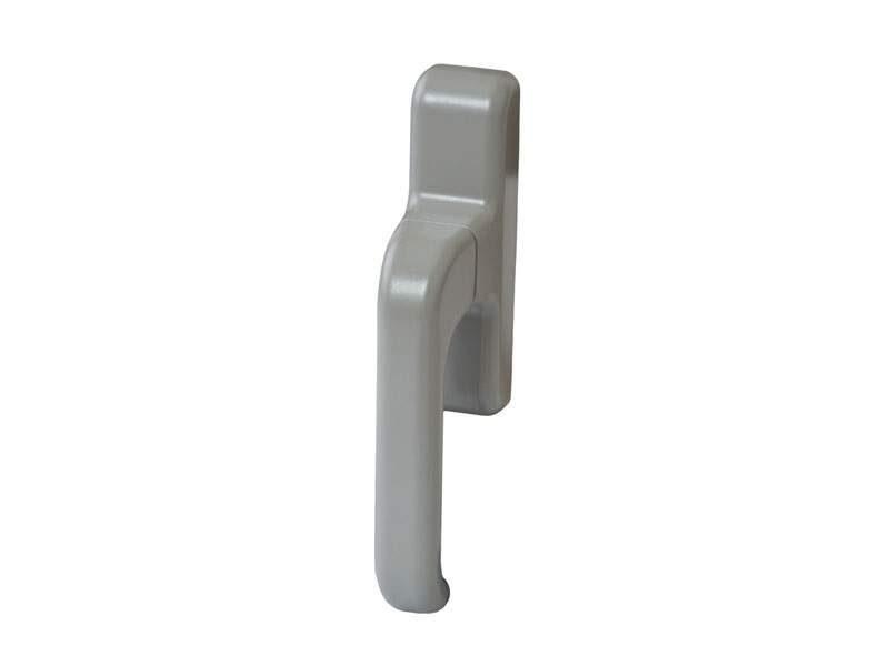 Ручка алюминиевого окна EURO E-line с блокиратором, серебро RAL9006, 01090970000TB