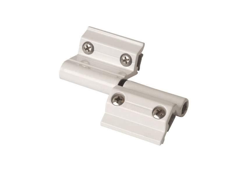 Петля поворотная оконная, Проведал, регулируемая +-1,2 mm, белая RAL9016 (1 пакет = 2 штуки)
