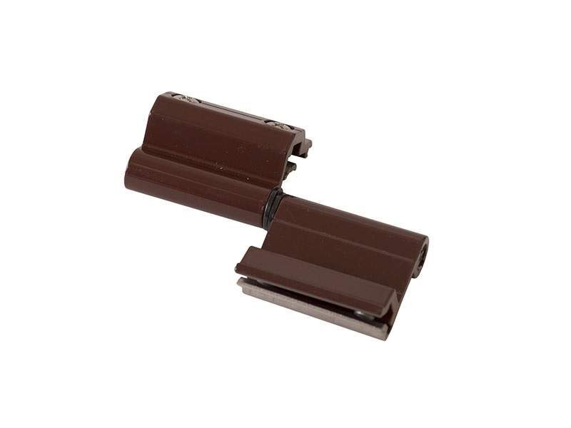 Петля поворотная оконная, Проведал, регулируемая +-1,2 mm, коричневая RAL8017 (1 пакет = 2 штуки)