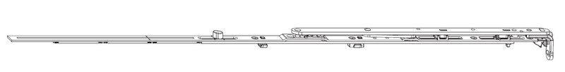 Ножницы MACO 211678 Для микропроветривания левые FFB 601-800 мм
