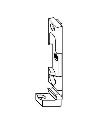 Поворотно-откидная планка MACO 33461 13 мм Rehau левая