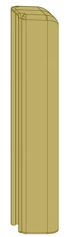 Декоративная накладка MACO 42096 на нижнюю петлю створки шампань