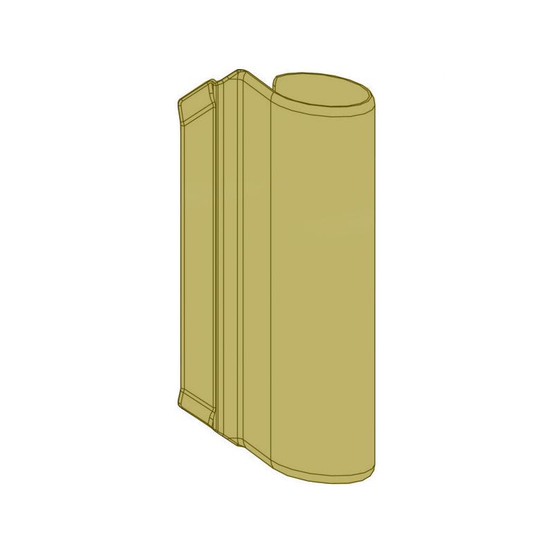 Декоративная накладка MACO 42108 на верхнюю петлю створки шампань