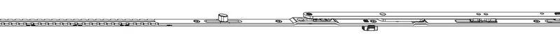 Ножницы MACO 52665 Для микропроветривания левые FFB 800-1050 мм