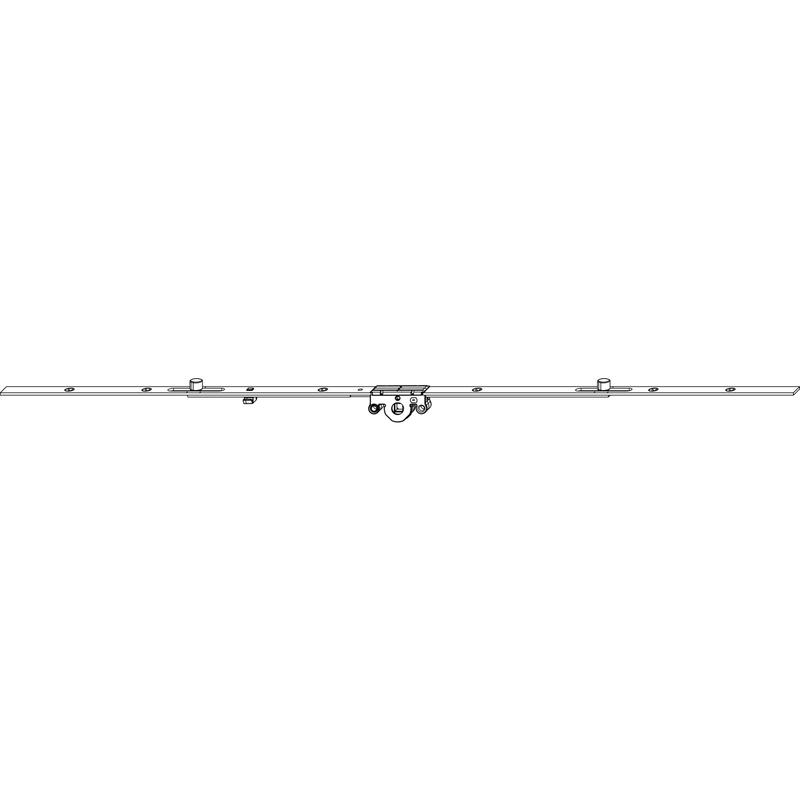 Поворотный механизм MACO 52465 Со средним расположением ручки GR3 DM15 701-100 мм