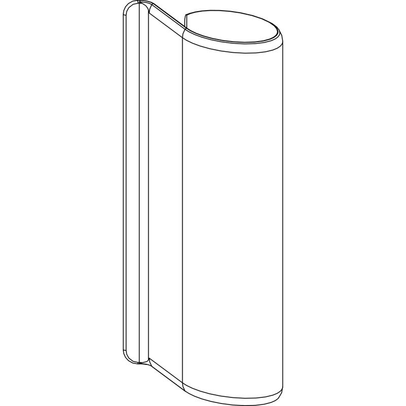 Декоративная накладка MACO 354669 на верхнюю петлю створки белая DT