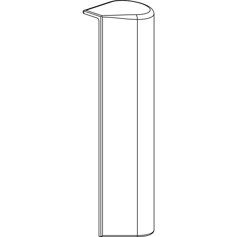 Декоративная накладка MACO 41741 на фальцевую петлю сворки левая белая