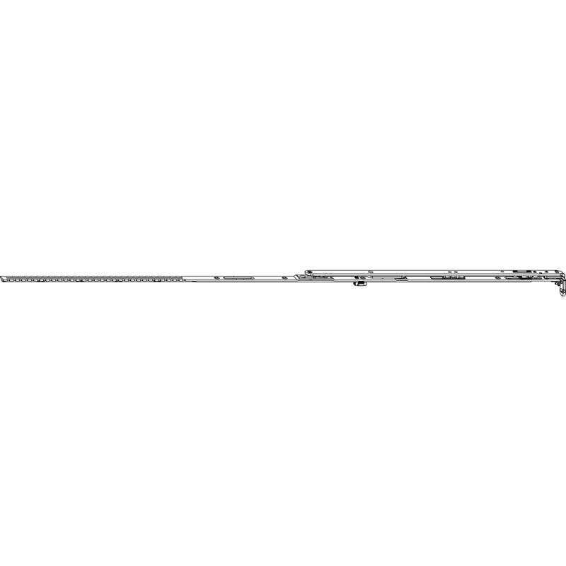 Ножницы MACO 52663 Для микропроветривания левые FFB 601-800 мм