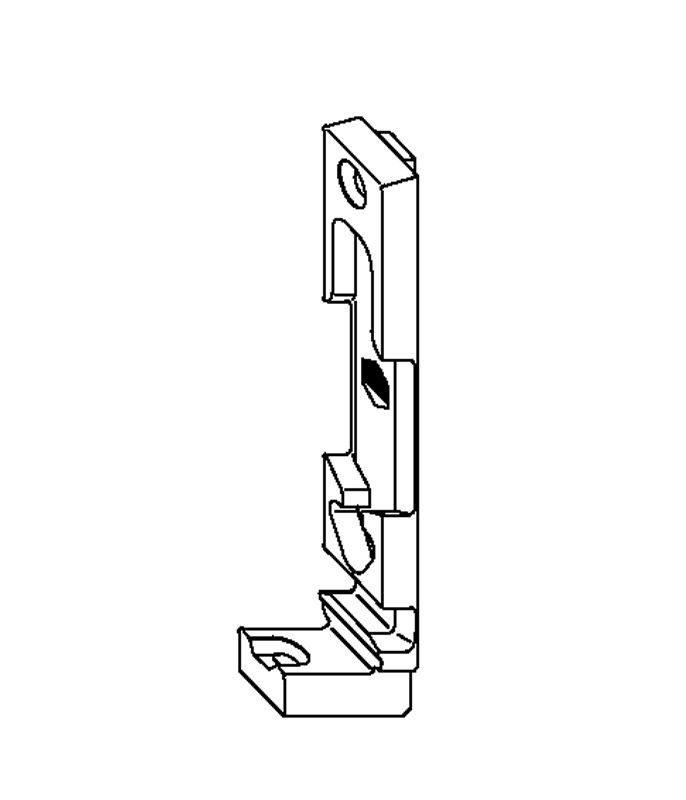 Поворотно-откидная планка MACO 33861 13 мм Thyssen левая