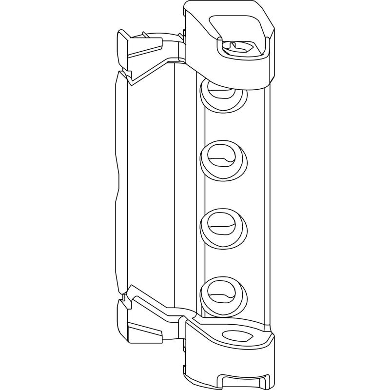 Верхняя петля MACO 202544 на раму 12/20 - 130 кг DT