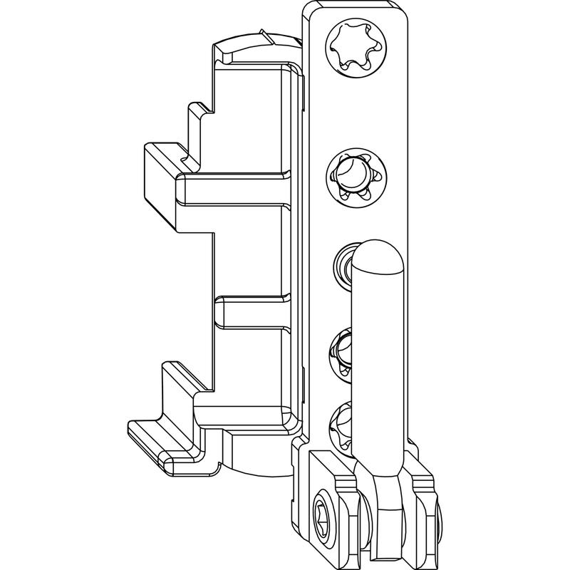 Нижняя петля MACO 54726 на раме правая 1220 - 130 кг