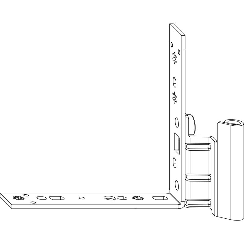 Нижняя петля MACO 54729 на створке левая 12/20-9 - 100 кг