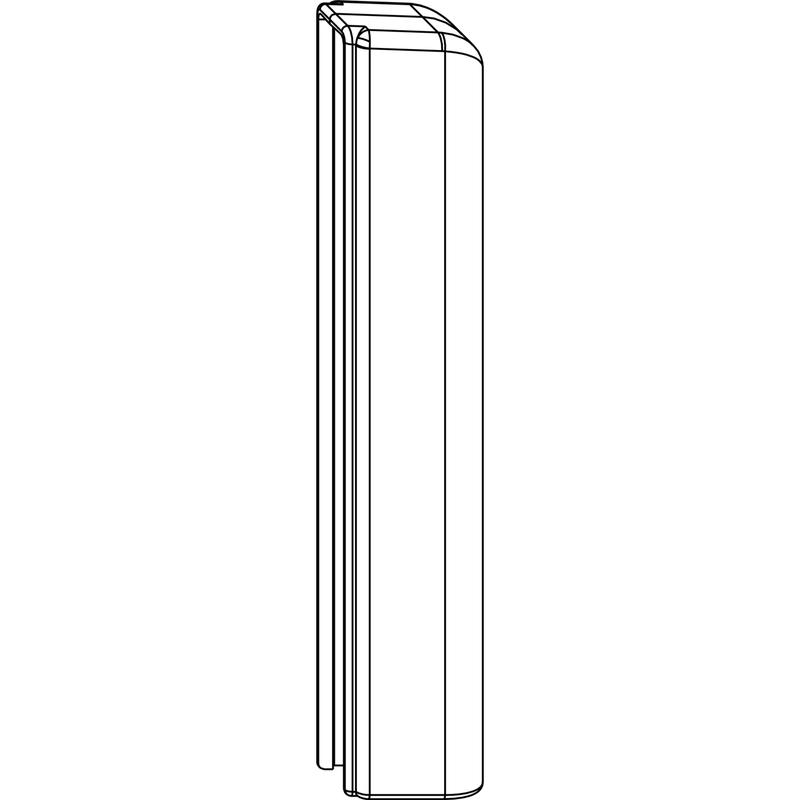 Декоративная накладка MACO 42095 на нижнюю петлю створки титан