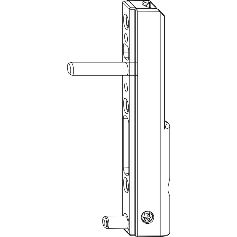 Нижняя петля MACO 52479 на створке с несущими цапфами 5 мм длина 23 мм