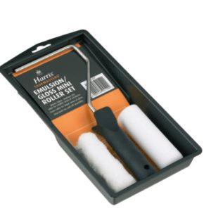 Ручка, набор мини-валиков Jumbo HARRIS, TASKMASTERS, из полиэстера  и пены 2 шт. и поддон, 4 дюймов