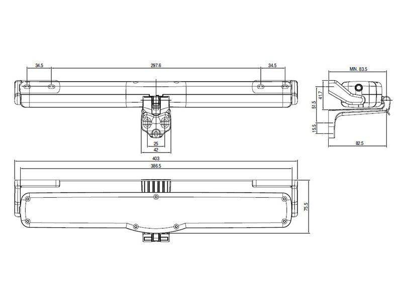 Автоматический привод цепной Giesse VARIA SLIM RADIO 230V, черный