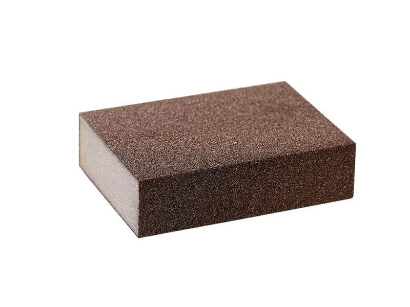 Блок шлифовальный зерно Р80 98х69х26мм ZF(мягкий)