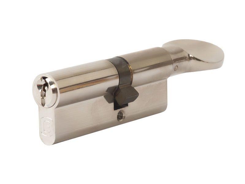 Цилиндр профильный ELEMENTIS с ручкой 35(ручка)/45(ключ), никелированный