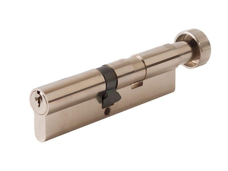 Цилиндр профильный MAXBAR с круглой ручкой 60 (ручка C)/50 (ключ),ник.