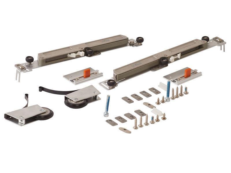 FIRMAX Комплект роликов с доводчиком (на одну дверь, L+R части)