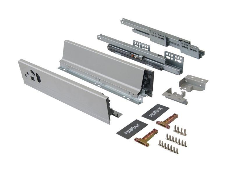 Комплект д/ящика Firmax 500 мм, H83мм с доводчиком, серебристый
