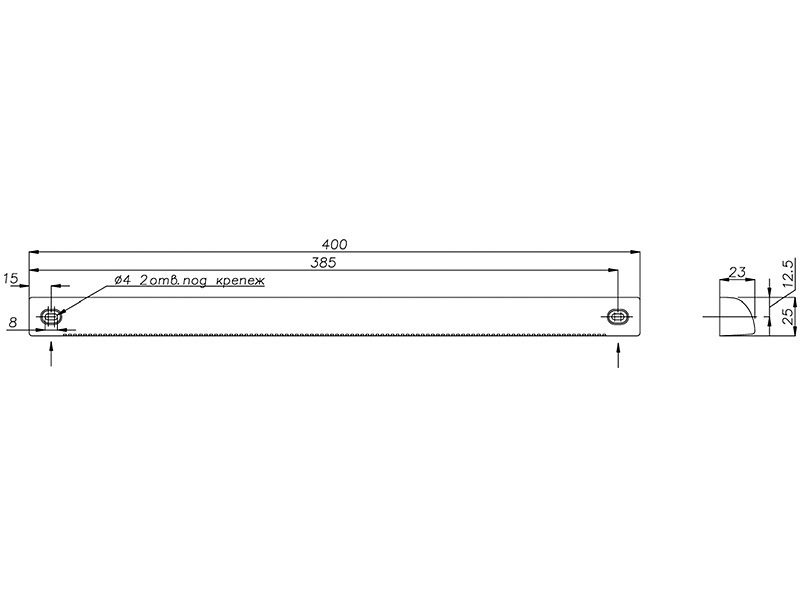 Козырек ASAM, белый RAL9003, AEA731