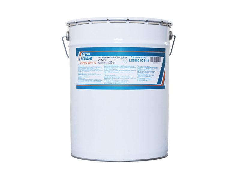 Лак для мебeли и столярных изделий LIGNUM 5001-10 на водной основе, 20 кг
