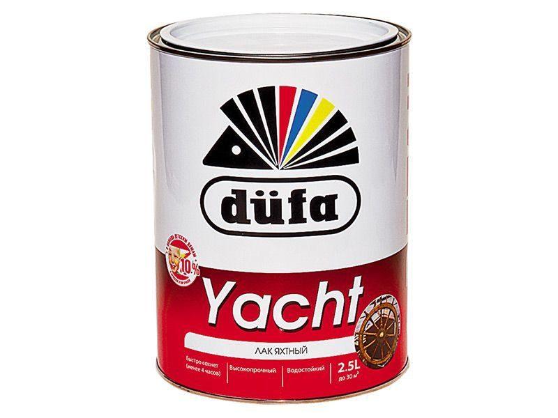 """Лак яхтный """"Dufa Retail"""" YACHT полуматовый 2.5л"""