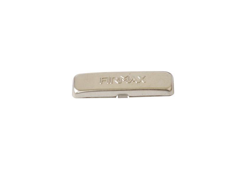 Накладка мебельной петли декоративная с логотипом Firmax на плечо петли, сталь, никель