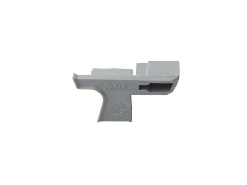 Накладка торцевая к водоотводному профилю № 22 F алюминий левый (N22F)