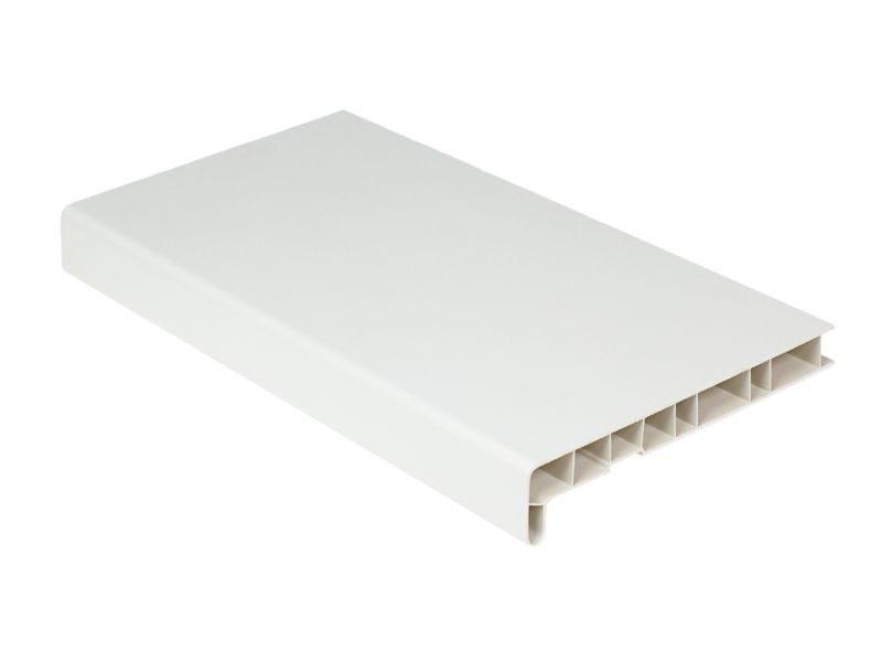 Подоконник пластиковый Витраж 400мм, белый матовый