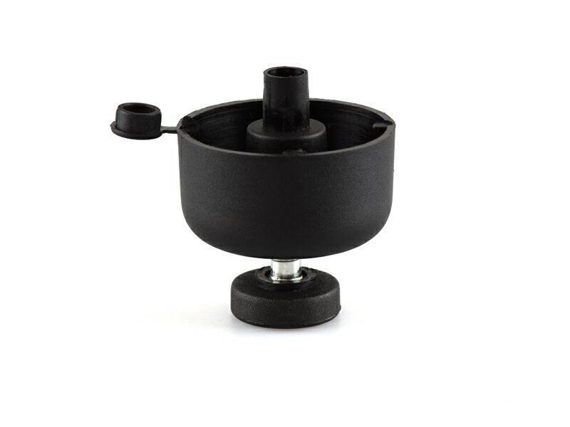 JA22 Опора регулир. FIRMAX, d=49 мм, H=27 мм, сталь, пластик, черный