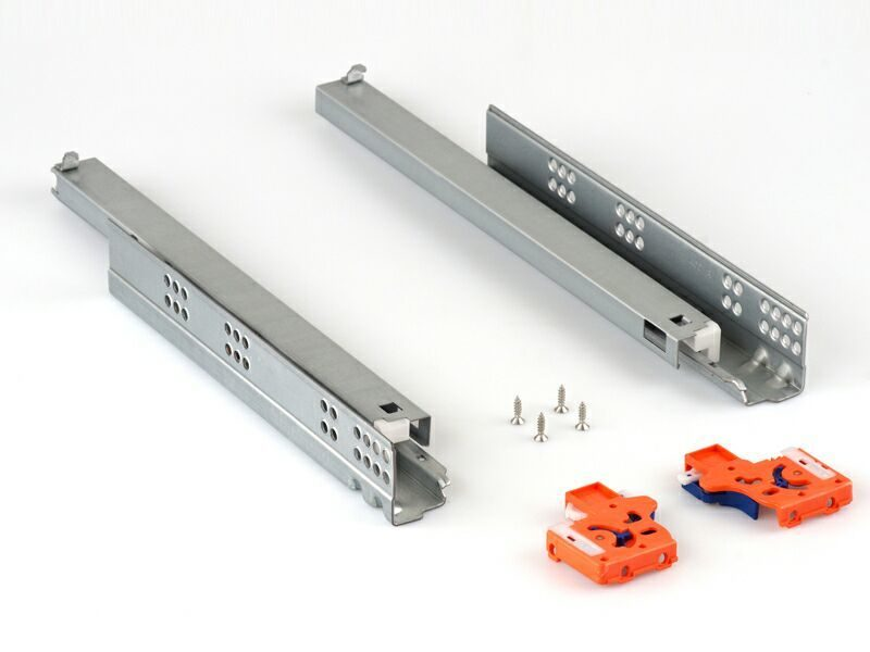 Направляющие Firmax скрытого монтажа L=250мм, д/ДСП 16мм с доводчиком, (2 напр.+2 крепл)