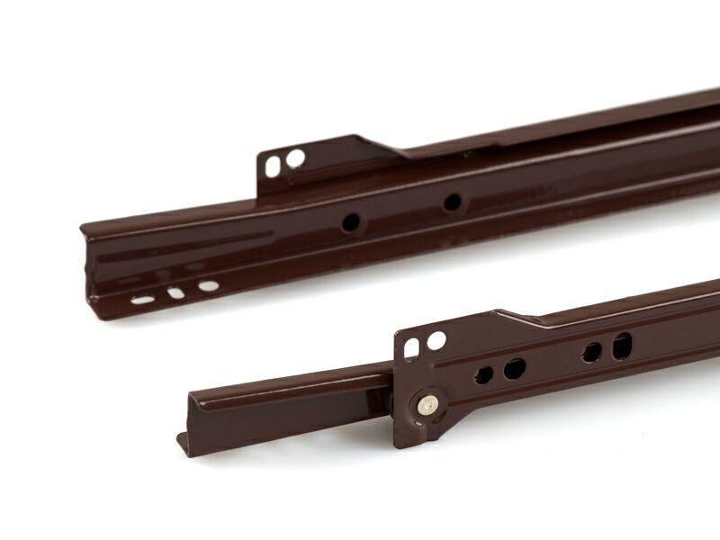 Роликовые направляющие Firmax 400мм, коричневый (4 части)