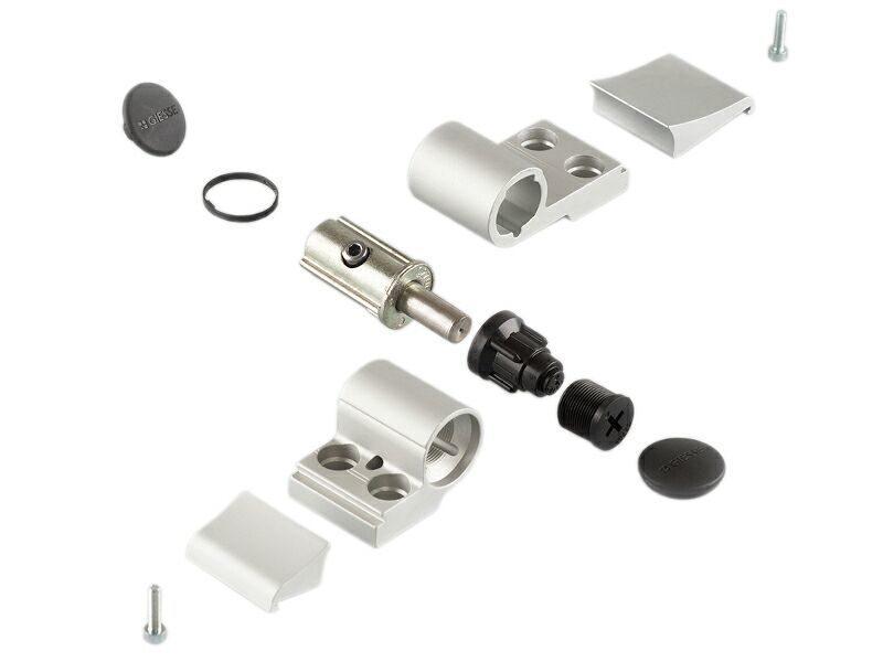Петля Domina Classic 2-х секц анодированная (без крепления), м/о 62,5 мм, 06170020