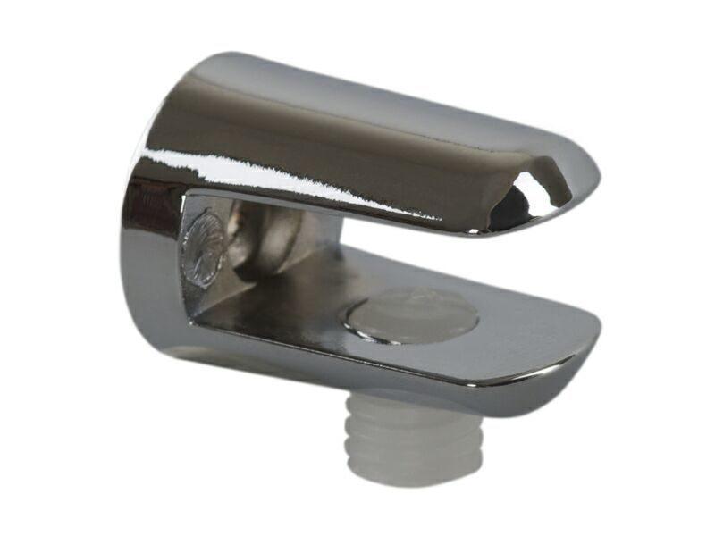 Полкодержатель для стекл. полок FIRMAX, H=8 мм, цинк, хром