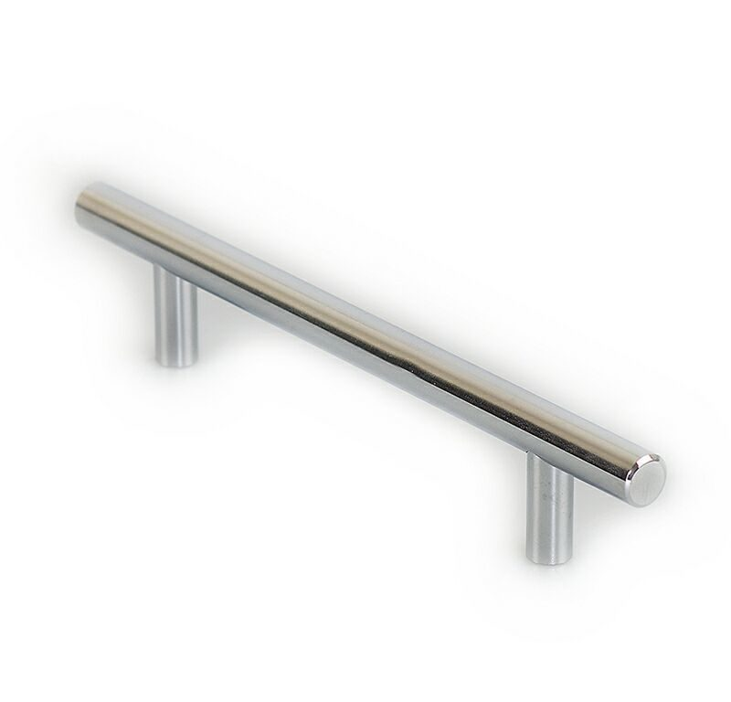 Ручка рейлинговая Firmax 128мм , металл, хром