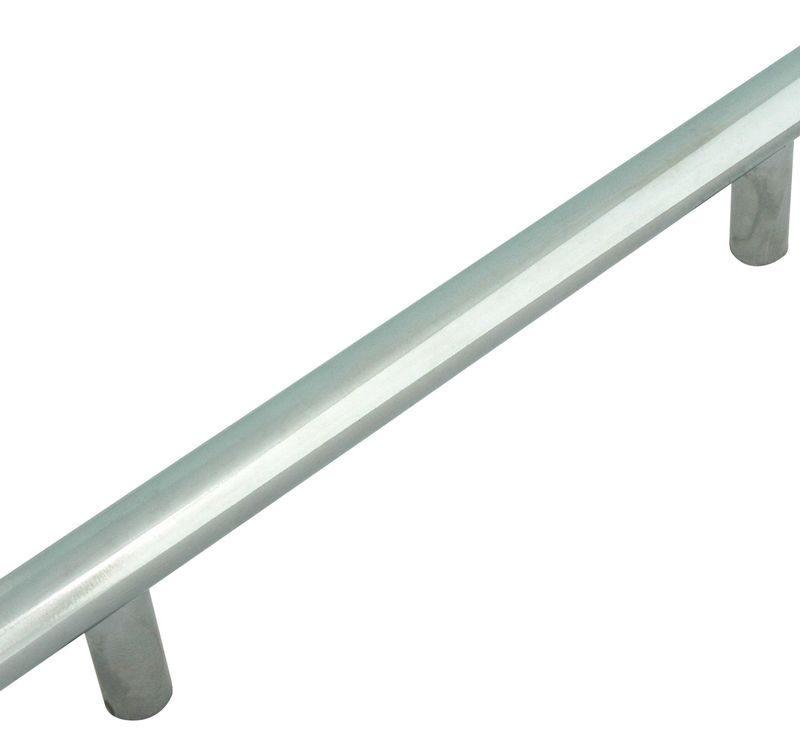 Ручка рейлинговая Firmax 192мм , металл, хром