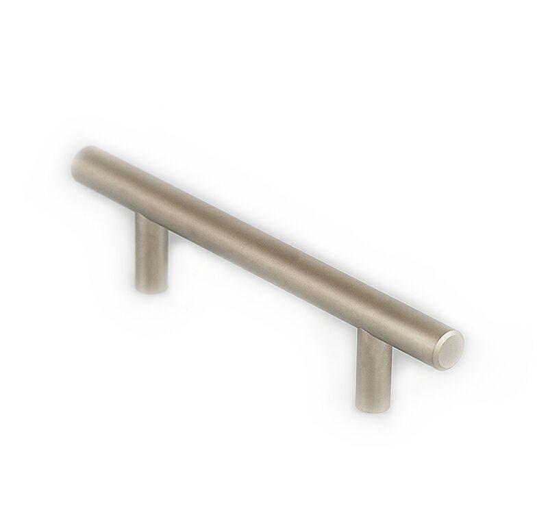 Ручка рейлинговая Firmax 96мм , металл, никель матовый