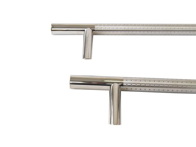 Ручка со смещением, комплект с креплением L=1000, D=32, полировка