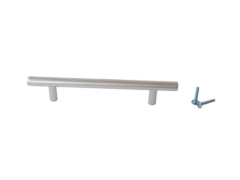 Ручка рейлинговая Firmax 128мм , металл, хром матовый