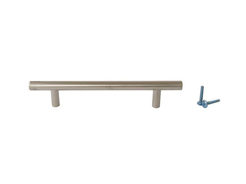Ручка рейлинговая Firmax 128мм , металл, никель матовый