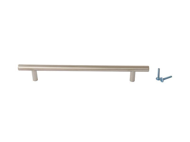 Ручка рейлинговая Firmax 192мм , металл, никель матовый