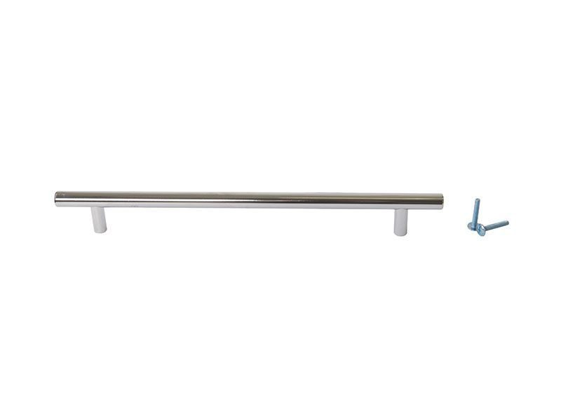 Ручка рейлинговая Firmax 224мм , металл, хром
