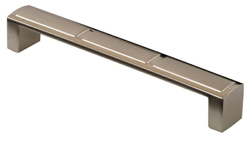 Ручка-скоба 160мм, металл, никель матовый