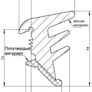 Уплотнитель для сухого остекления DEVENTER темно-коричневый