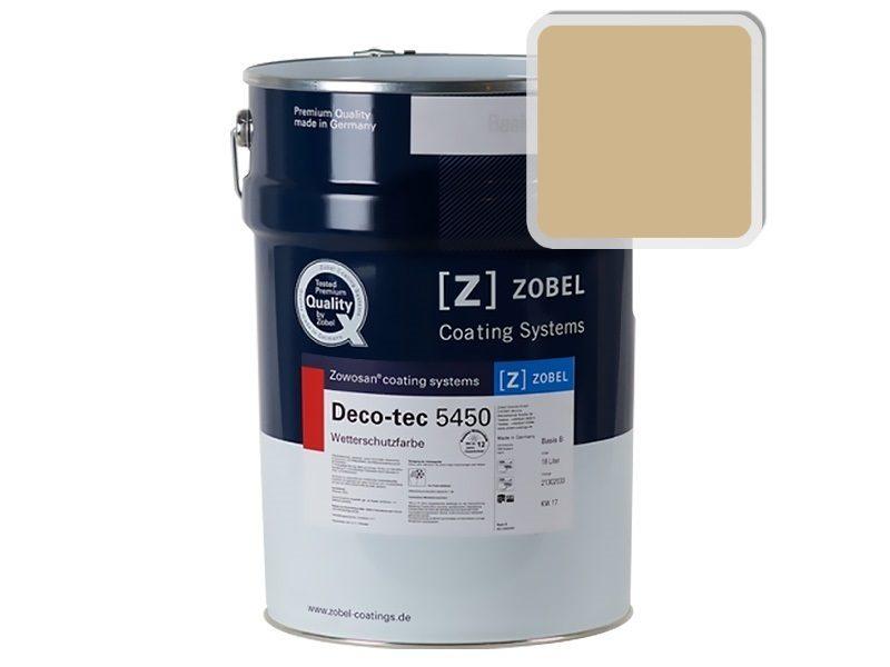 Краска для дерева ZOBEL Deco-tec 5450A RAL 1001, 1 л