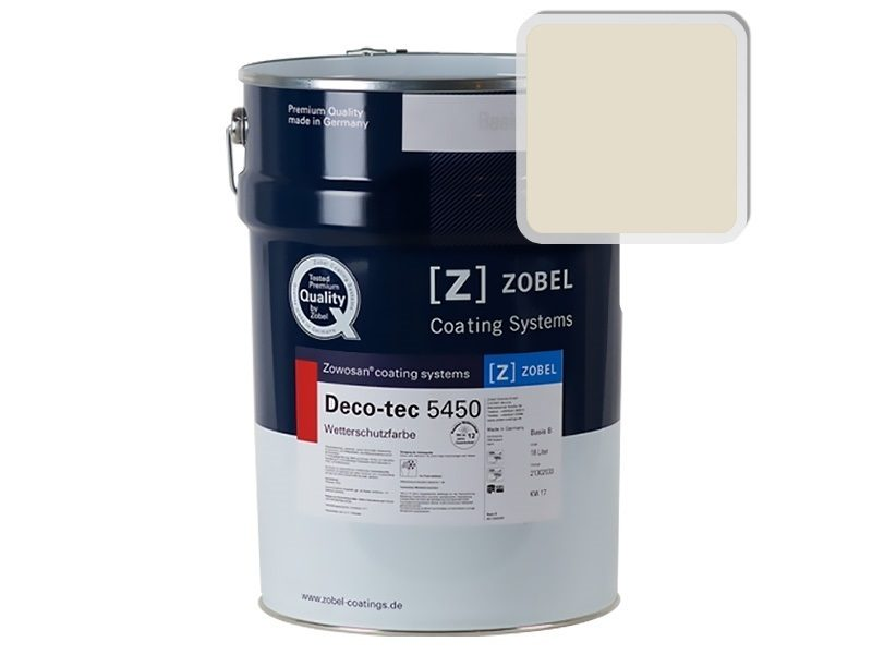 Краска для дерева ZOBEL Deco-tec 5450A RAL 1013, 1 л